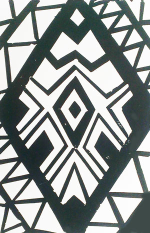 aztec linoprint