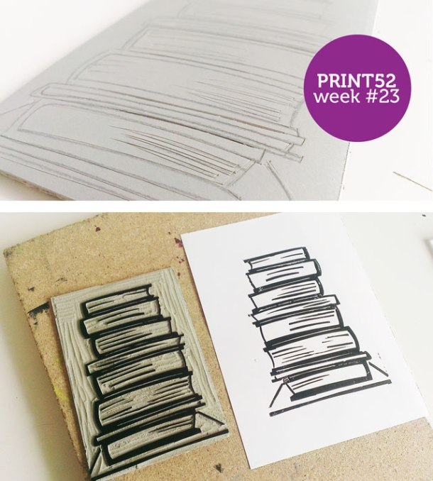 week-23,-books-lino-print