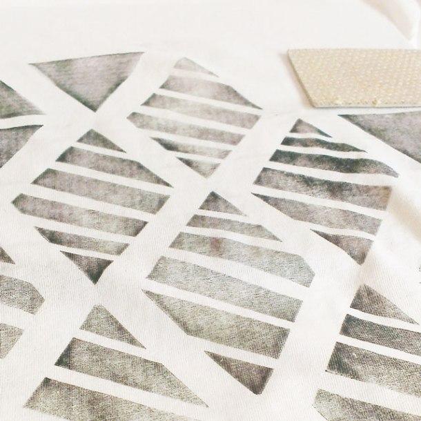 fabric linoprint