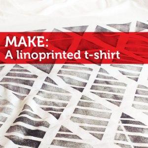 make a linoprinted tshirt