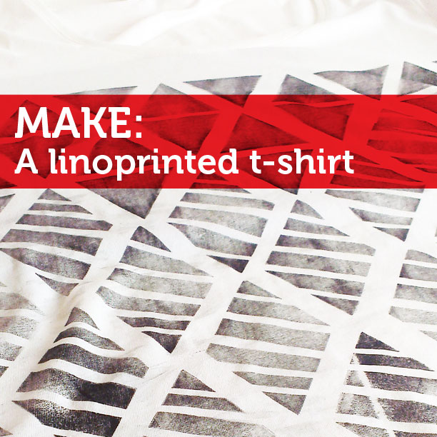 make a linoprinted tshirt
