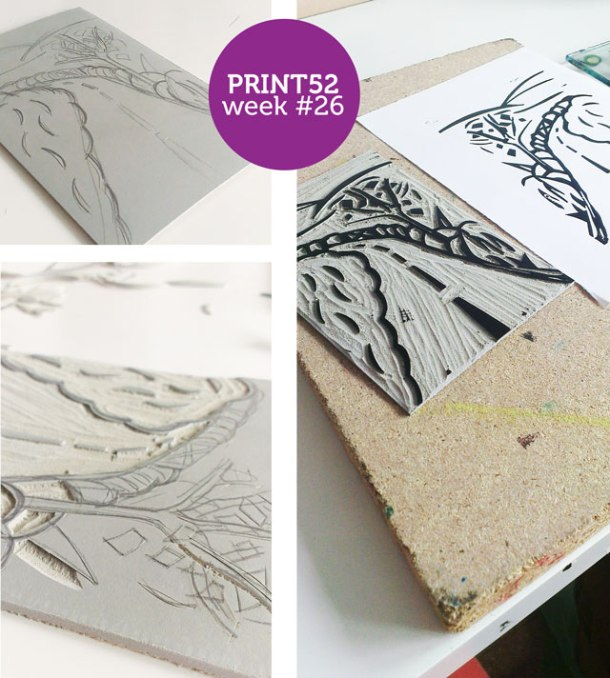 lino print project