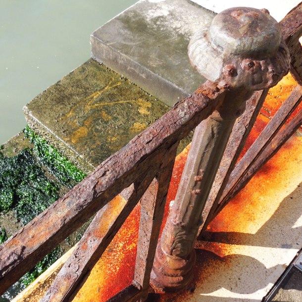 rusty sea wall venice