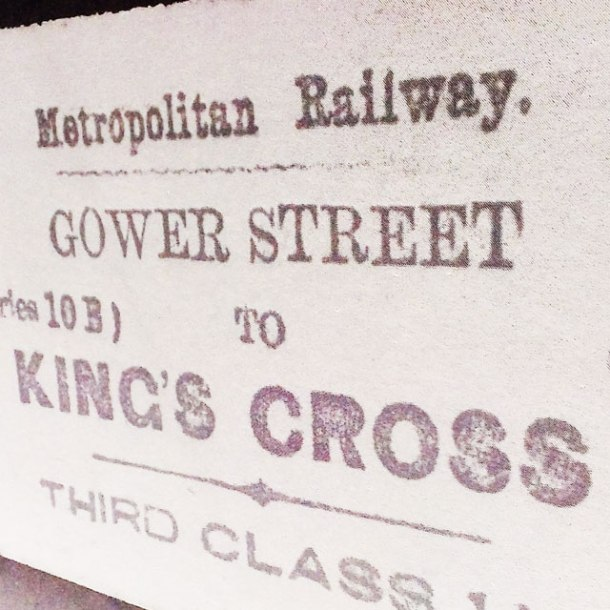 old fashioned london railway ticket