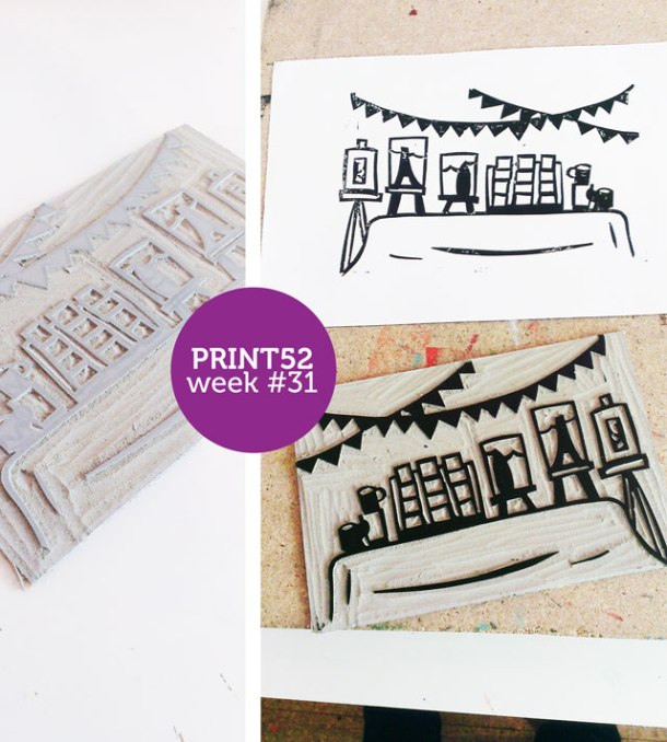 craft fair linoprint