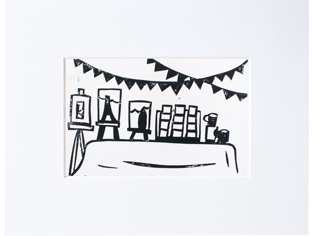 craft fair linoprint