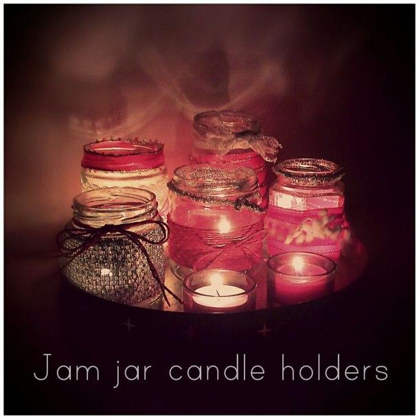 make christmas candle jars