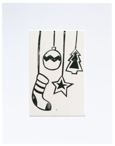 christmas linoprint