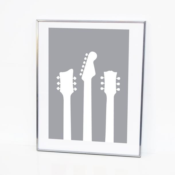 grey guitar illustration