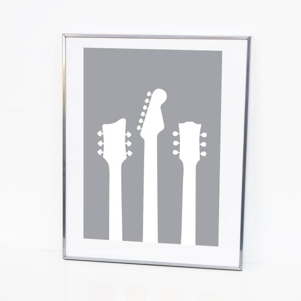 grey guitar illustration