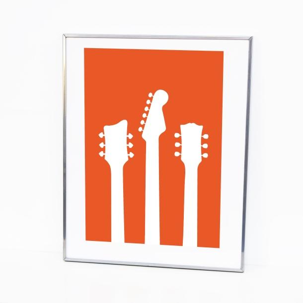 guitar head print