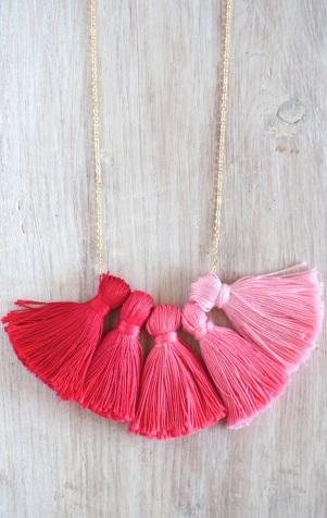 tassel necklace craft