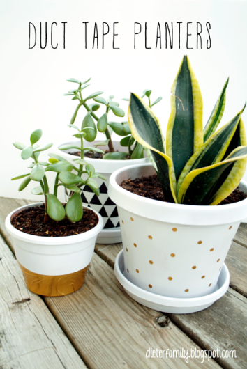 duct tape planters