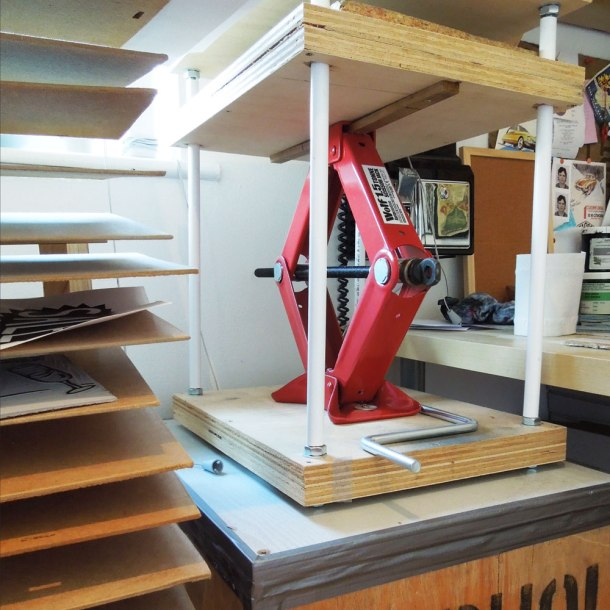 homemade printing press