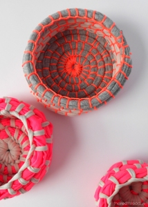 make fabric bowls