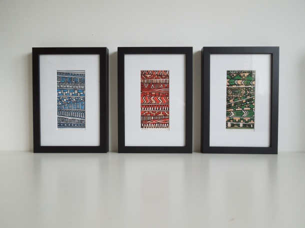 tribal aztec linoprint