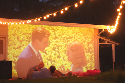 garden movie screen