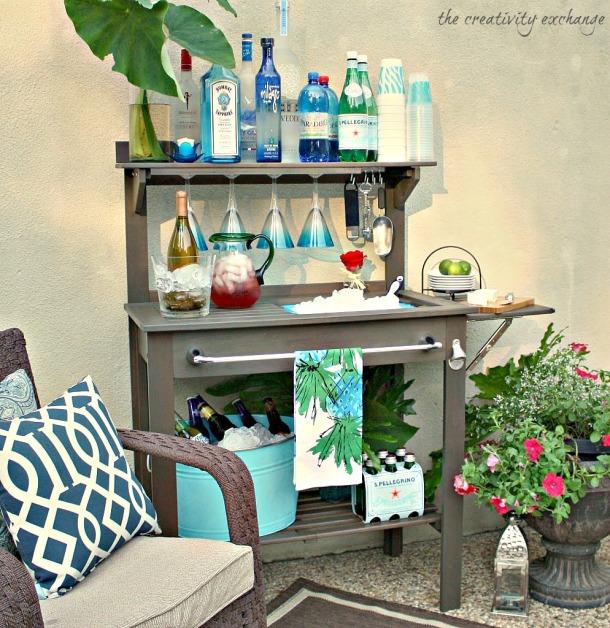 make a garden bar